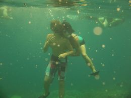 Cameron and mom in Kealakekua Bay , Noreen H - August 2015