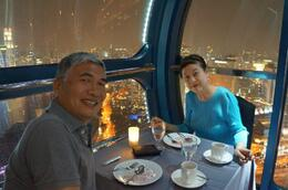 Photo of Singapore Singapore Flyer Sky Dining what a fine couple..