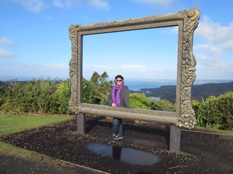 A gorgeous afternoon exploring Waitakere Ranges Regional Park, we found the picture frame at the Arataki Visitors Center.