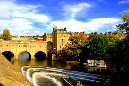 looking down was a view of Pulteney Bridge over the River Avon.... , CECILE - September 2011