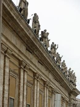 Some of the 144 carvings in St Peter's Square at the Vatican, Rome, Cheryl N - June 2010