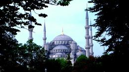 A view of the famous Blue Mosque. , Steven L - June 2011
