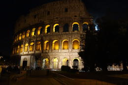 Photo of Rome Illuminated Rome Night Tour with Aperitivo Colosseum at night.