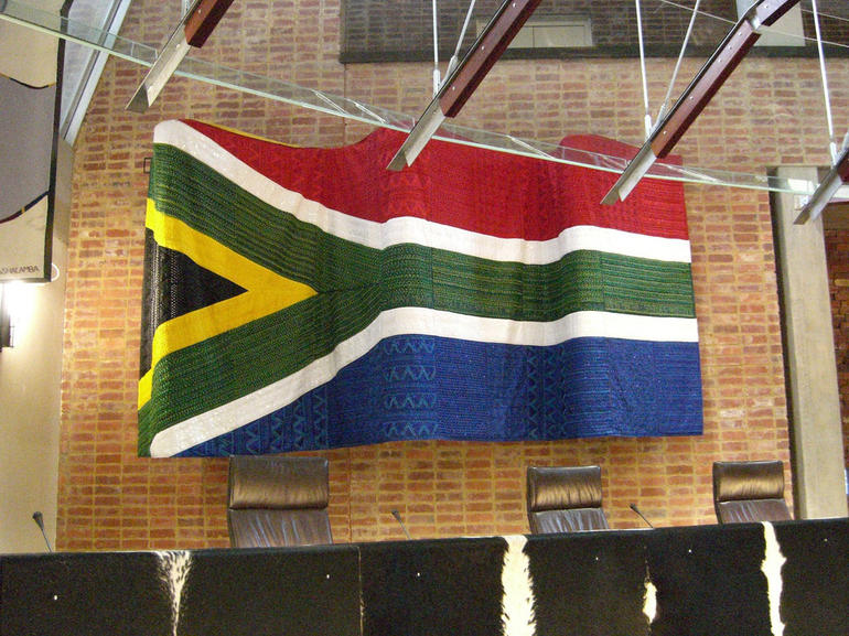 Constitution Hill: South African flag - Johannesburg