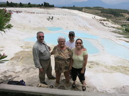 in front of Pamukkale pools, Patricia P - July 2014