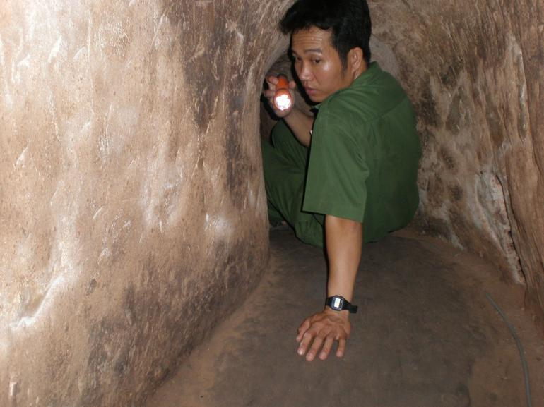 Inside one of the Cu Chi Tunnels - Ho Chi Minh City