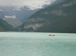 Photo of Calgary Rocky Mountains Tour: Calgary to Jasper Lake Louise a lone boat