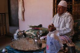 Photo of Marrakech Berber Trails 4WD Day Trip from Marrakech mint tea with a berber local