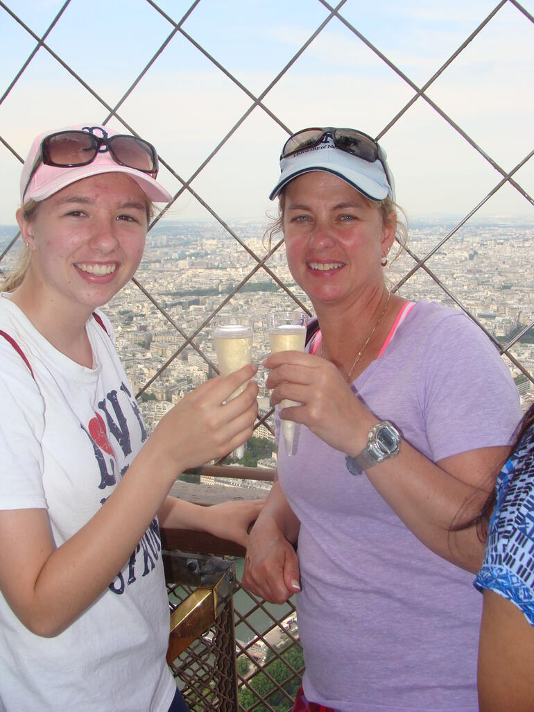 my daughters 1st Champagne - Paris