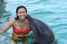 Photo of Punta Cana Half-Day Dolphin Island Tour from Punta Cana My new best friend!!