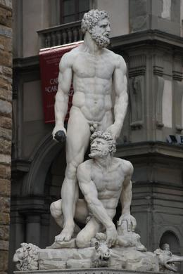 Statue outside front entrance of Palazzo Vecchio, gayparis - June 2010