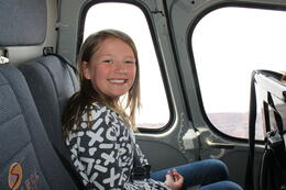Photo of   Ready for lift off in our helicopter!