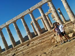 My husband and I at the Temple of Poseidon. , Ashley W - July 2014