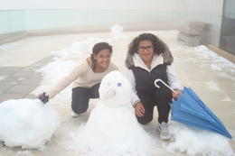 The girls made their snow man on the roof top of Pilatus :) , May - October 2012
