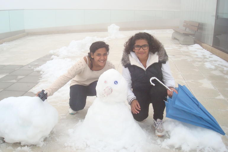 The snow man :) - Lucerne
