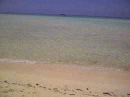 Endless sand bar and crystal clear water - September 2012