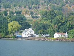 Picture taken from the circle line as we sailed down the Hudson River on the Bear Mountain cruise. - October 2007
