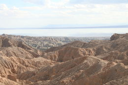 Photo of   canyon looking over at the Salton Sea