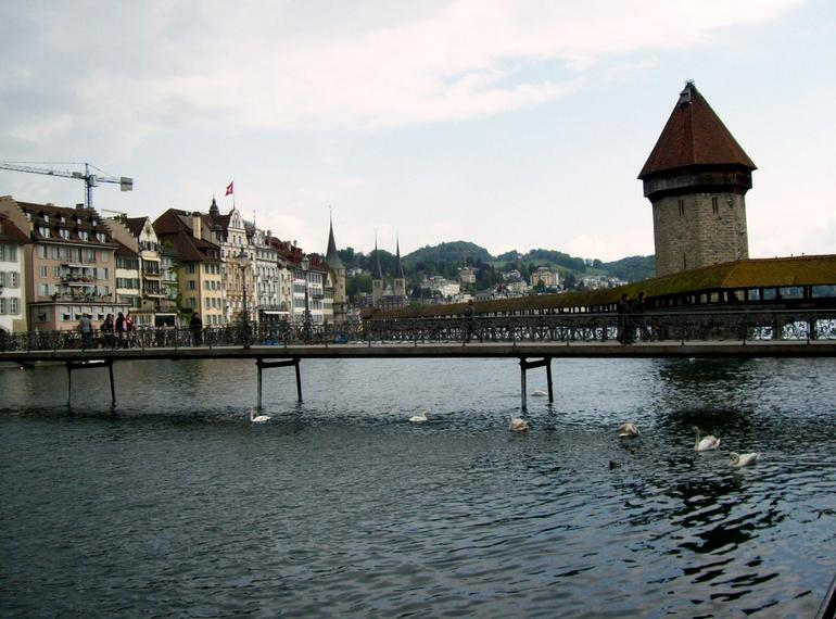 Covered Bridge in Lucerne - Zurich