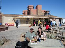 Kenneth and Carla having lunch after walking on the Skywalk at Grand Canyon. Enjoying a meal on a beautiful day at the Grand Canyon. - March 2009