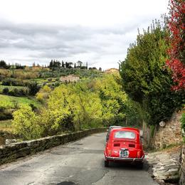 Photo of Florence Self-Drive Vintage Fiat 500 Tour from Florence: Tuscan Hills and Italian Cuisine Oh the views!