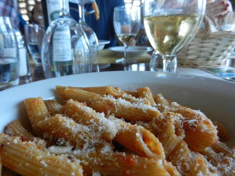 Pasta course of lunch in the chianti region - Florence