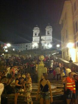 Photo of Rome Rome Vespa Tour: City Highlights by Night Spanish Steps