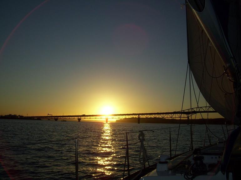 Sunset over Waitemata Harbour - Auckland