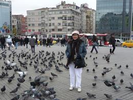 We took the train/metro to Kabatas and from there to Taksim Square-Beyoglu. It's remind me of Venice and its many frolicking doves at St Mark's Square. , Rick and Ildy Vinas - May 2011