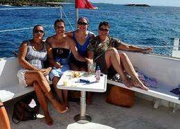 Our group on board after swimming, snorkeling, and lots of rum!, Carrie F - October 2008