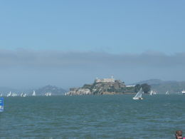 View of Alcatraz as we headed towards it on the tour boat. , Cherrie H - April 2015