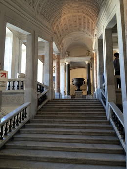 One of many magnificent staircases at the Vatican. , GAIL E - July 2014