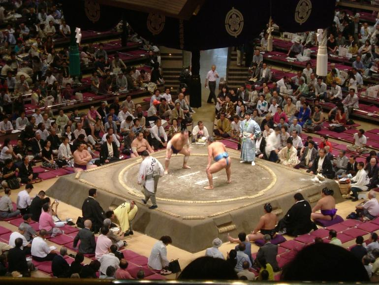 Bout in sumo wrestling - Tokyo