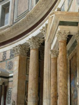 Marble columns inside the Pantheon, Rome, Cheryl N - June 2010