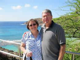 Jerry and Julie, taken at Hanauma Bay, Gerald S - May 2010