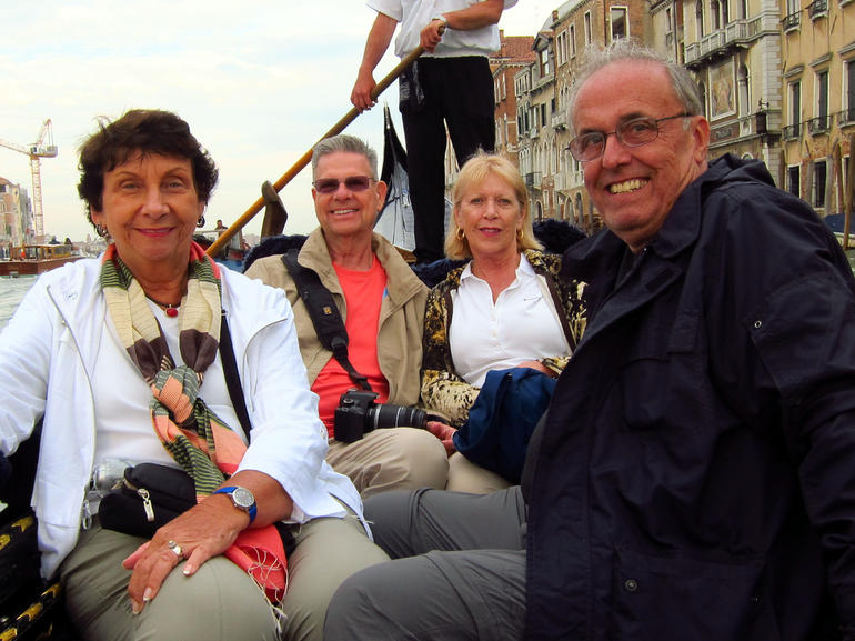 JoAnn, Denny, Sonja, and Dennis enjoying our ride - Venice