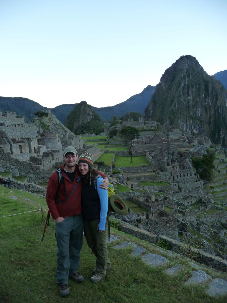 Just before sunrise at Machu Picchu - Cusco