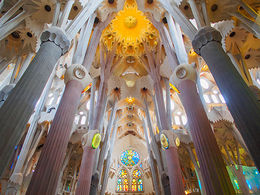 Inside the Sagrada Familia , stephonzx - March 2015