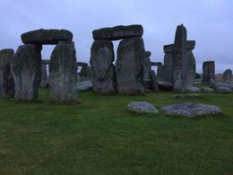 Eerily beautiful Stonehenge on a misty, cold evening. , Kim M - August 2015