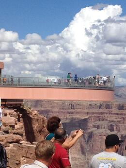 Breath taking clouds while looking upon the sky walk and all the visitors., Nichlas T - September 2014