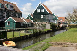 We had time for a short walk in the the pretty village of Marken after the clog making demonstration before the boat trip to Volendam , Derek P - May 2013