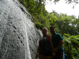 My wife and I, standing by La Coca waterfall. , Cesar F - August 2014