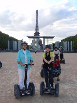 Grandma & Granddaughter (Linda & Makenzi) winding up the Segway tour - with the Eiffel Tower in the background., Linda C - August 2010