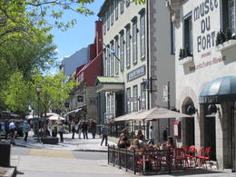 Photo of Montreal Quebec City and Montmorency Falls Day Trip from Montreal A cafe scene