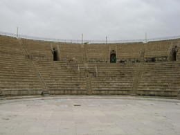 View from centre stage at Caesarea amphitheatre. , Heidi O - February 2012