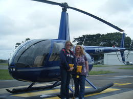 With our Helicopter waiting to board. , Poppy - January 2012
