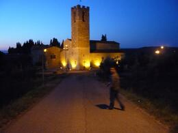 My attempts at night photography after our meal in Castellina - July 2009