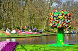 One of many fun pieces of art around the Keukenhof. , John D - April 2015
