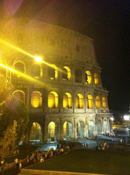 Photo of Rome Rome Vespa Tour: City Highlights by Night Colosseum