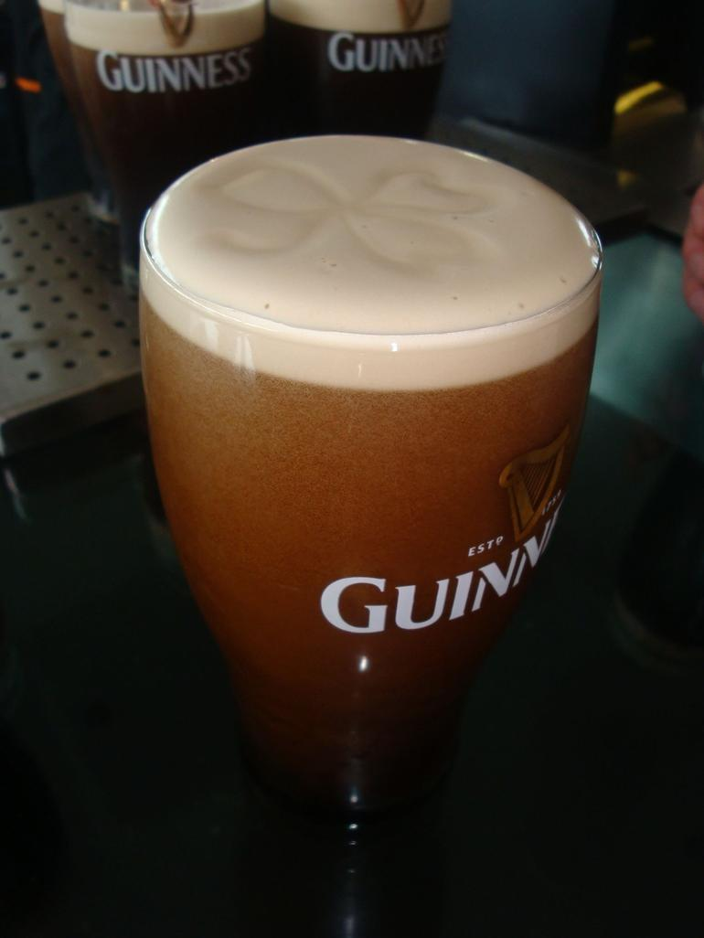 Complimentary pint of Guinness - Guinness Storehouse - Dublin